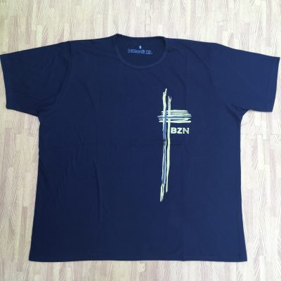 Polera Diseño Cruz Azul Marino